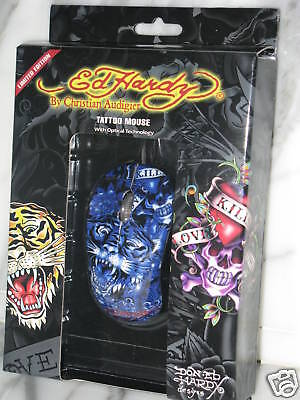 Ed Hardy Tattoo Mouse With Optical Technology