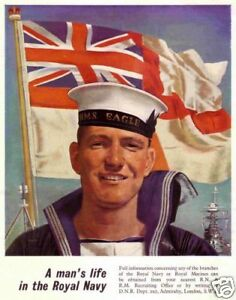 Vintage Royal Navy Recruitment poster A3 reprint