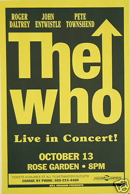 THE WHO CONCERT TOUR POSTER 1996