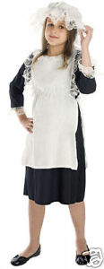 GIRLS-MAID-VICTORIAN-EDWARDIAN-SERVANT-FULL-FANCY-DRESS-COSTUME-OUTFIT-6-8-NEW