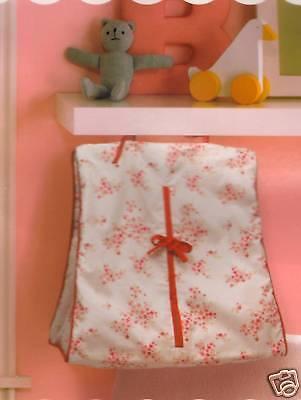 Migi Sweet Rose Floral Diaper Stacker Red, Pink Flower 200 Tc Nip