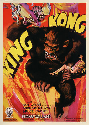 King Kong Fay Wray 1933 Vintage movie poster item 10