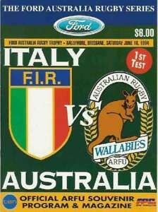 AUSTRALIA-v-ITALY-1994-1ST-TEST-RUGBY-PROGRAMME