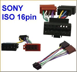 SONY CD PLAYER to 16 Pin ISO CAR STEREO WIRING ADAPTOR