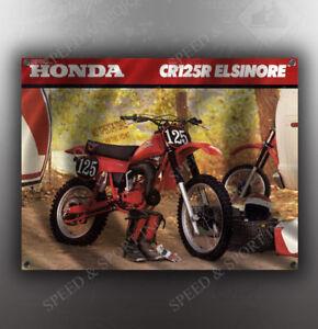 VINTAGE-HONDA-1980-CR125R-ELSINORE-MOTORCYCLE-BANNER
