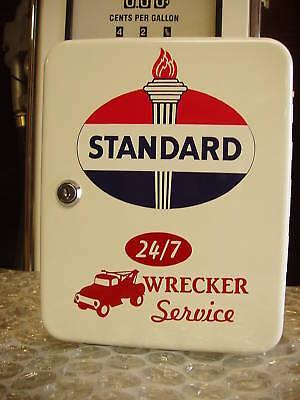 STANDARD OIL  1950S GAS OIL SERVICE STATION KEY BOX NEW