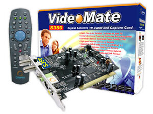 Compro VideoMate S350 Digital Satellite TV Tuner and Capture Card - Windows 7