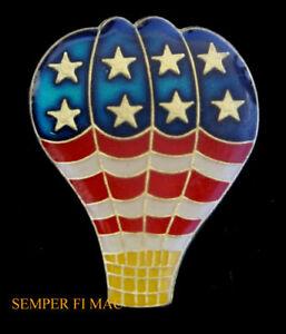 US-FLAG-USA-HOT-AIR-BALLOON-HAT-PIN-Albuquerque