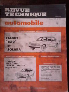 TALBOT-1510-Solara-DATSUN-100-120-Revue-Technique-Automobile