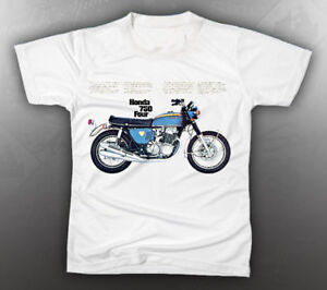 VINTAGE HONDA 750 FOUR MOTORCYCLE TEE-SHIRT LIKE NOS