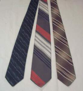 3-mens-necktie-lot-Milano-Bianchi-Longet-VGC