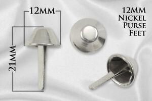 """20pcs - 12mm (1/2"""") Purse Feet / Brads - Nickel - (PFT-110)"""