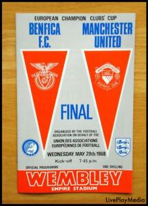 1968 European Cup Final Manchester United v Benfica MAN UTD Programme Wembley