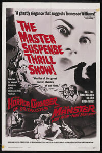 The horror chamber of Dr Faustus Horror movie poster