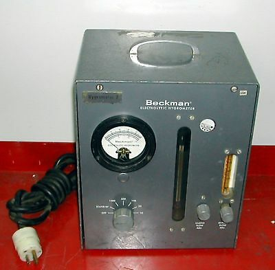 Beckman Eh Electrolytic Hygrometer Moisture Analyzer