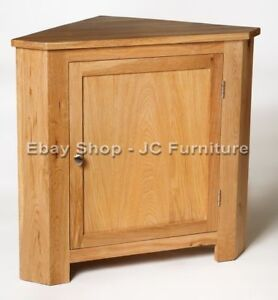 New-Solid-Oak-Small-Low-Corner-Storage-Display-Unit-Cupboard-Cabinet-Table