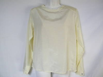 Top Womens Top Silk By Bogari Signature 75% Silk 3 Button Free Shipping
