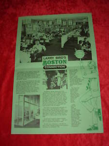 Larry-Bird-Boston-Connection-Restaurant-Menu-Placemat-Celtics-Basketball