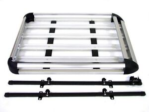 Aluminum-Roof-Basket-Carrier-Rack-Car-Top-Luggage-Cargo-Storage-SUV-50x38-Silver