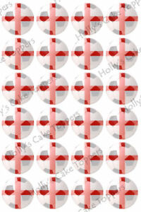 ENGLAND-FOOTBALL-WORLD-CUP-CAKE-Rice-Paper-Toppers-x24