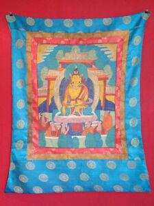 Antik-Original-Thangka-Thanka-Tibet-Asien-handbemalt