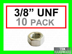 Stainless-Steel-UNF-Imperial-Full-Nuts-3-8-10-Pack
