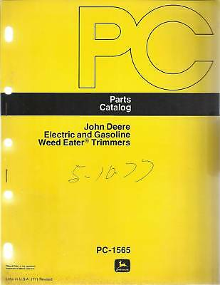 John Deere Electric & Gasoline Trimmers Parts Catalog
