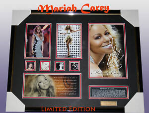 MARIAH-CAREY-MEMORABILIA-SIGNED-FRAMED-LIMITED-499
