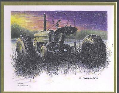 John Deere Print Rear Dusk Tractor Print Limited Edition #'d 21/500