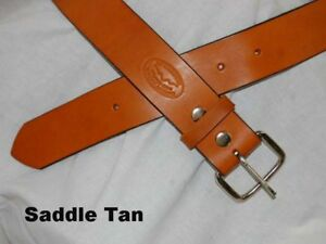 Barsony-Heavy-Duty-Tan-Leather-Belt-1-3-4-Size-57-58