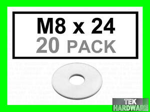 Stainless-Steel-Penny-Washers-M8-x-24mm-20-Pack
