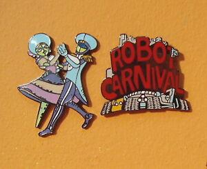 ROBOT CARNIVAL 2 ENAMEL PIN SET  MINT DEAD STOCK