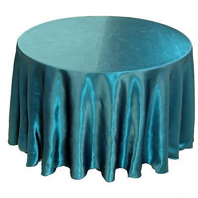 10 round 120 satin tablecloths 30 colors 5ft table wedding for 10 foot table cloths