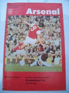 Programme-Arsenal-v-Birmingham-City-29-10-1977