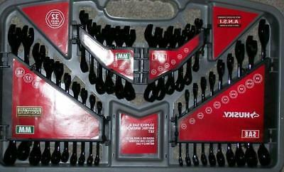 Husky SAE and Metric 32 Pieces Black  Wrench Set 48 hr