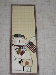 PRIMITIVE-SNOWMAN-LAMINATED-BOOKMARK-CS1219