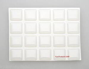 100Pc-16mm-square-Self-Adhesive-Clear-Polyurethane-Dome