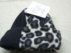 infant-S-M-leopard-black-fleece-snow-cap-turtle-fur