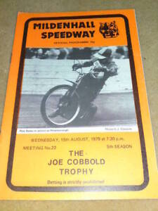 MILDENHALL SPEEDWAY - JOE COBBOLD THROPHY - AUG 15 1979