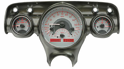 Dakota Digital 57 Chevy Car Analog Dash Gauges System Silver Alloy Red Vhx-57c