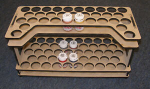 Paint Bottle Rack; Foundry Colour type paint pots.