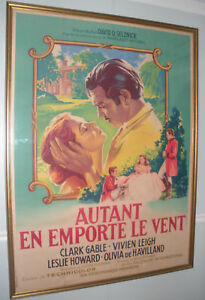 GONE WITH THE WIND ORIGINAL FRENCH MOVIE POSTER- ROGER ...