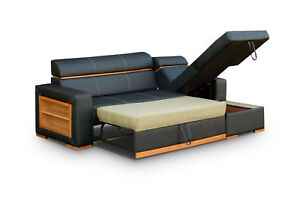 Cheap Corner - LEATHER CORNER SOFA BED - Becky - Difrent Colours - same Price