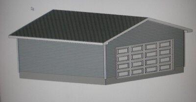 22 39 x 22 39 garage shop plans materials list blueprints ebay for Garage material list