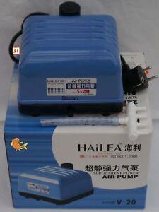 Teichbeluefter-HAILEA-V-10-Alugeh-10-L-min-nur-10-Watt-Sauerstoffpumpe-Teich