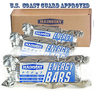 mainstay energy bars  1200 calorie rations 20 pack case