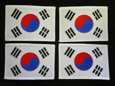 Korean Flag patchs  uniform karate tang soo do lot of 4