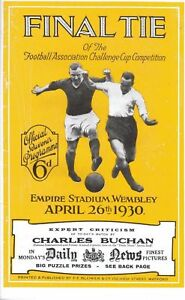 * 1930 FA CUP FINAL PROGRAMME, ARSENAL v HUDDERSFIELD