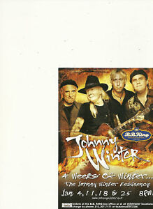 JOHNNY-WINTER-LOT-OF-6-COLOR-PROMO-POSTCARDS-NICE