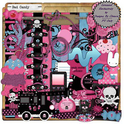 Digital Scrapbook Kit Clip Art Set #516 PU clipart -DBC